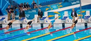 Start of olympic swimming finals women