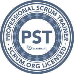 Badge Professional Scrum Trainer Scrum.org