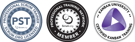 Scrum.org Professional Scrum Trainer and Professional Training Network Member, and Certified Kanban Training on behalf on Kanban University.