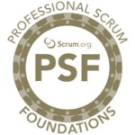 Scrum.org Professional Scrum Foundations logo (PSF)