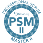 Scrum.org Professional Scrum Master II logo (PSM II)