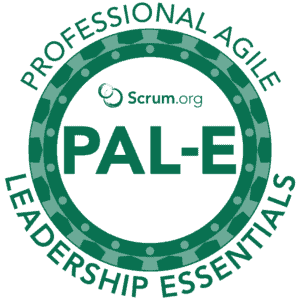 Scrum.org Professional Agile Leadership Essentials (PAL-E) logo