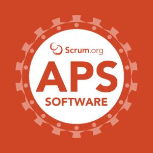 Logo Scrum.org course Applying Professional Scrum Software