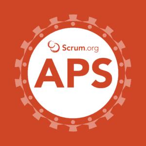 Logo Scrum.org course Applying Professional Scrum (APS)